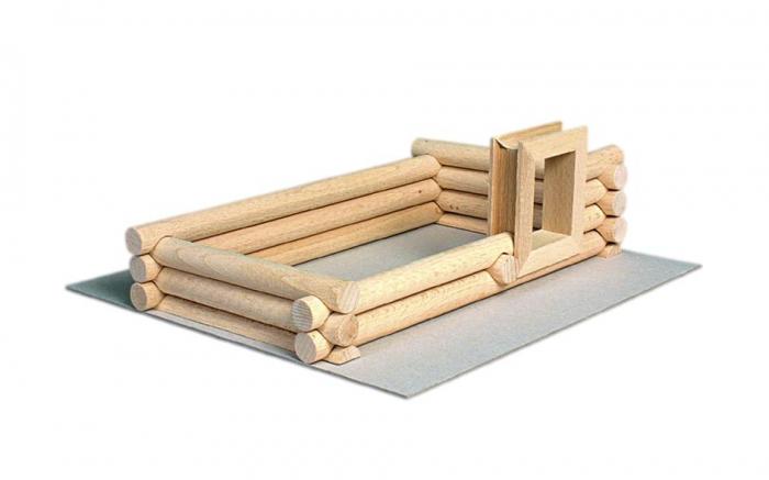 Set constructie arhitectura Vario Suitcase, 72 piese din lemn, Walachia 2