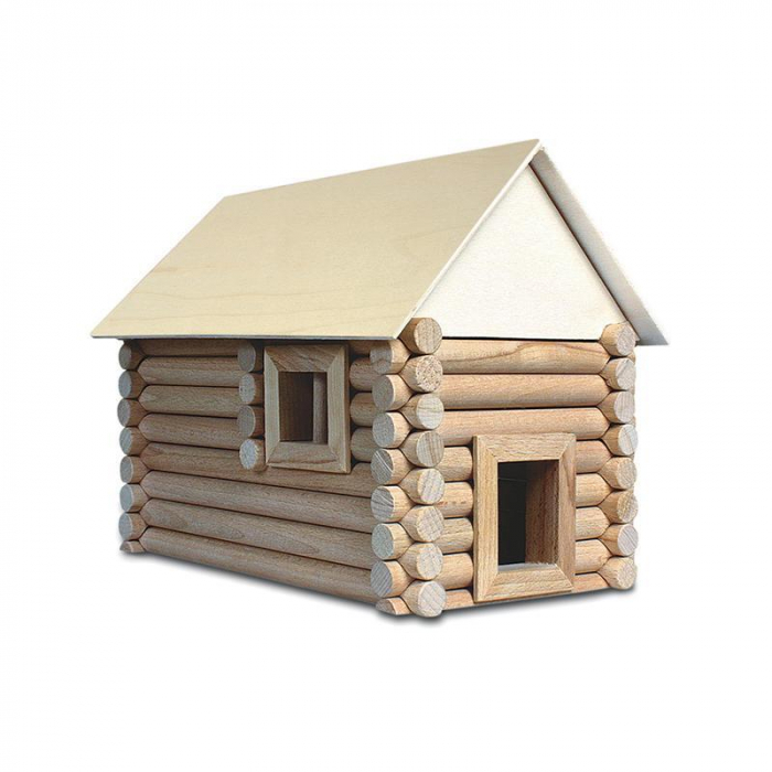 Set constructie arhitectura Vario Suitcase, 72 piese din lemn, Walachia 0