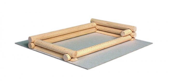 Set constructie arhitectura Vario Suitcase, 72 piese din lemn, Walachia 1