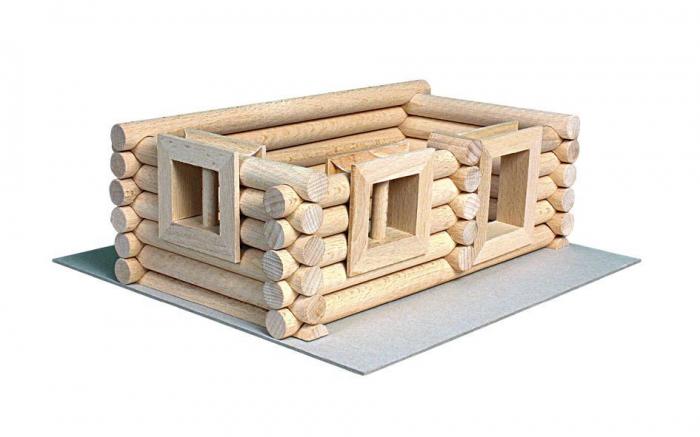 Set constructie arhitectura Vario Suitcase, 72 piese din lemn, Walachia 4