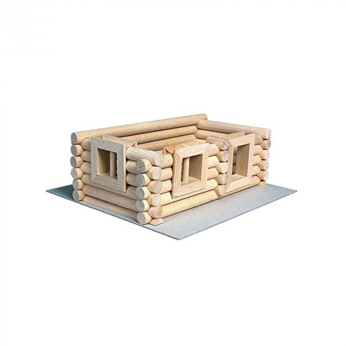 Set constructie arhitectura Vario Suitcase, 72 piese din lemn, Walachia 12