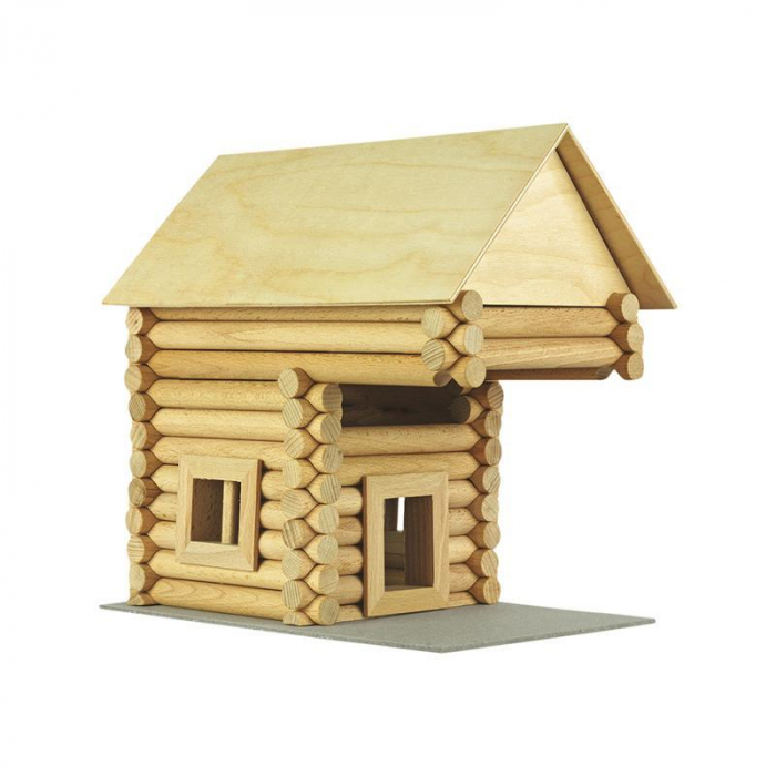 Set constructie arhitectura Vario Suitcase, 72 piese din lemn, Walachia 10