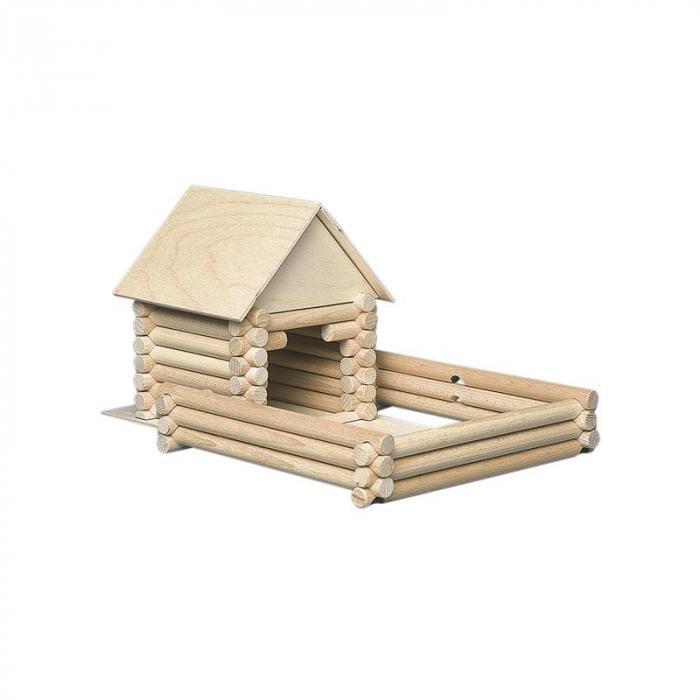 Set constructie arhitectura Vario Suitcase, 72 piese din lemn, Walachia 9