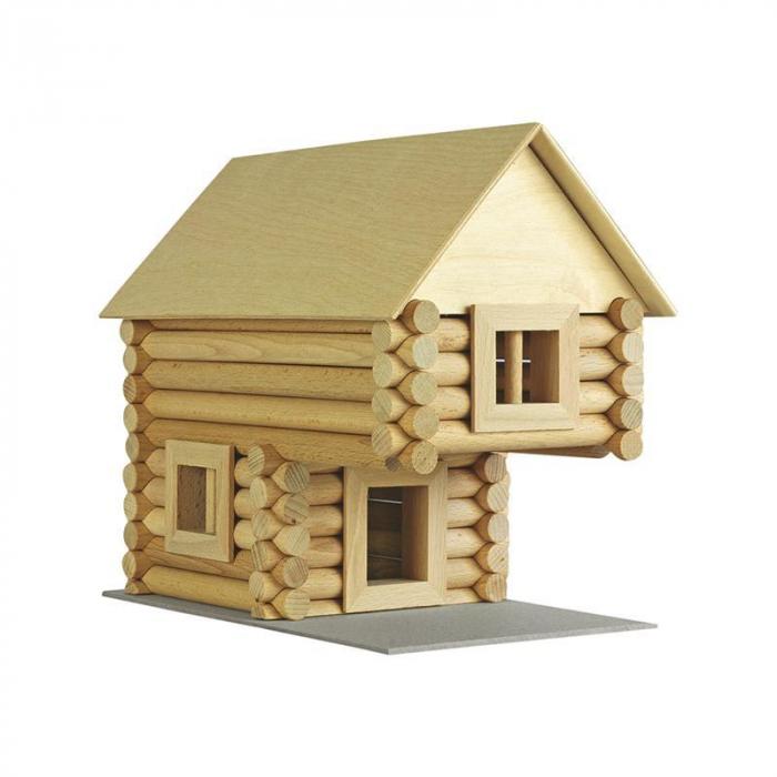 Set constructie arhitectura Vario Suitcase, 72 piese din lemn, Walachia 11