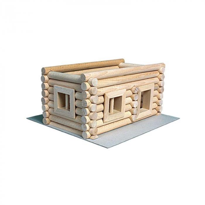 Set constructie arhitectura Vario Suitcase, 72 piese din lemn, Walachia 13