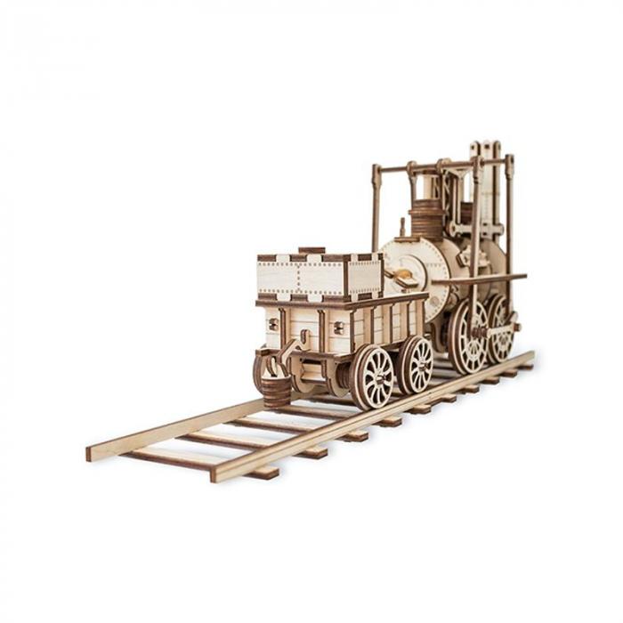 Set constructie cu mecanism Puzzle 3D LOCOMOTION din lemn 325 piese @ EWA 1
