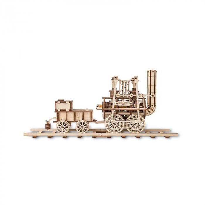 Set constructie cu mecanism Puzzle 3D LOCOMOTION din lemn 325 piese @ EWA 2