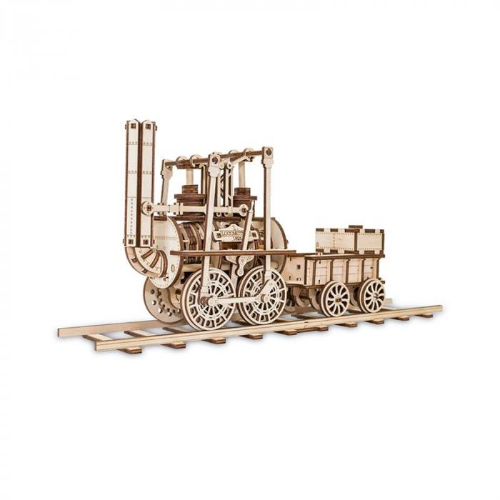 Set constructie cu mecanism Puzzle 3D LOCOMOTION din lemn 325 piese @ EWA 0