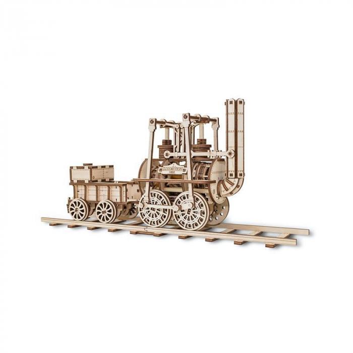 Set constructie cu mecanism Puzzle 3D LOCOMOTION din lemn 325 piese @ EWA 3
