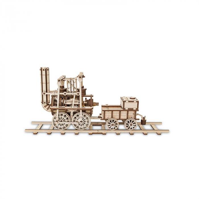Set constructie cu mecanism Puzzle 3D LOCOMOTION din lemn 325 piese @ EWA 5