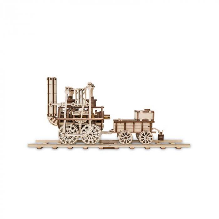 Set constructie cu mecanism Puzzle 3D LOCOMOTION din lemn 325 piese @ EWA 4