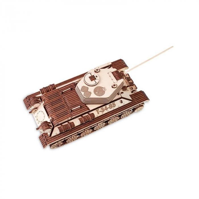 Set constructie cu mecanism Puzzle 3D TANK T-34-85 din lemn 965 piese @ EWA 0