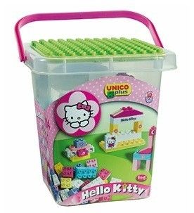 Set constructie Unico Plus Hello Kitty Galetusa cu placa de montat 104 piese 0