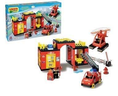 Set constructie Unico Plus statie Pompieri 0