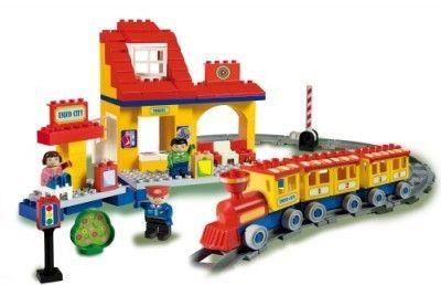Set constructie Unico Plus tren mare - Androni Giocattoli [0]