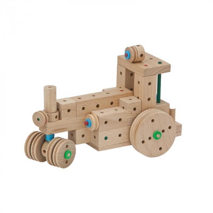 Set cuburi de constructie din lemn Explorer 318 piese, +5 ani, Matador 0