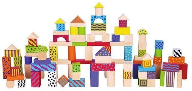 Set de 100 de cuburi din lemn - New Classic Toys [0]