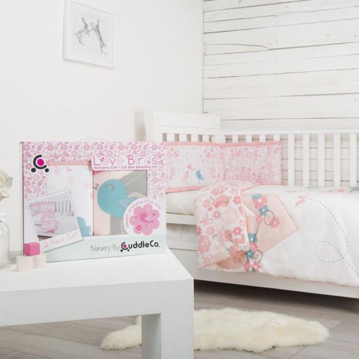 Set de pat 2 piese pentru bebelusi Comfi-Dreams Lovebirds 843022 2