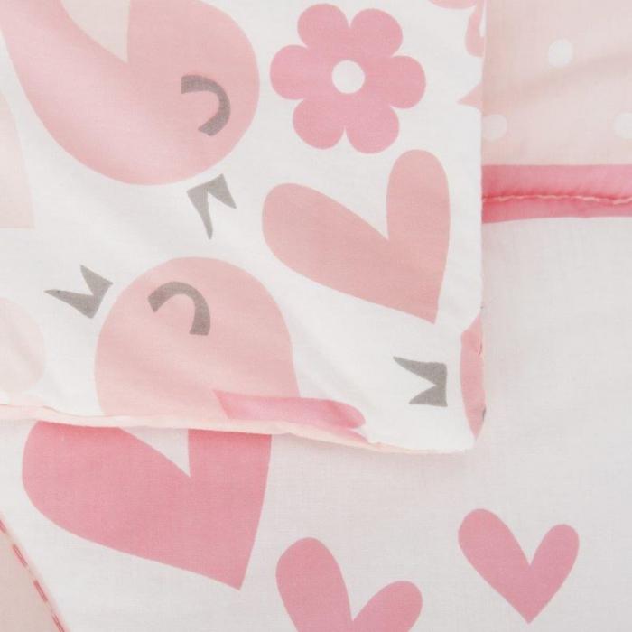 Set de pat 2 piese pentru bebelusi Comfi-Dreams Lovebirds 843022 4