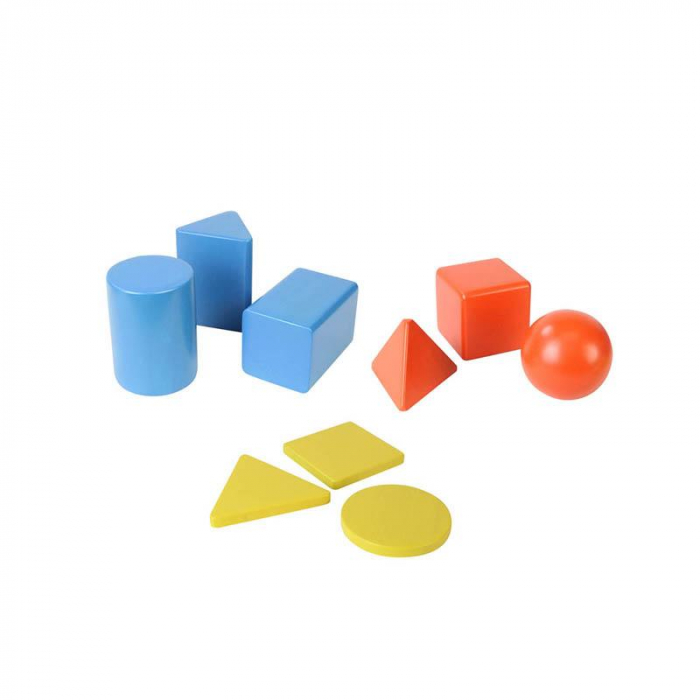 Set educativ forme si corpuri geometrice, din lemn, +2 ani, Masterkidz, pentru gradinite 2