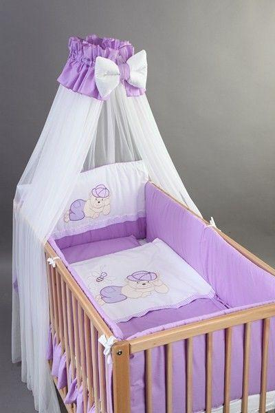 Set Lenjerie patut bebe si copii brodata 6 piese 120x60 Ursulet - BebeDesign [0]
