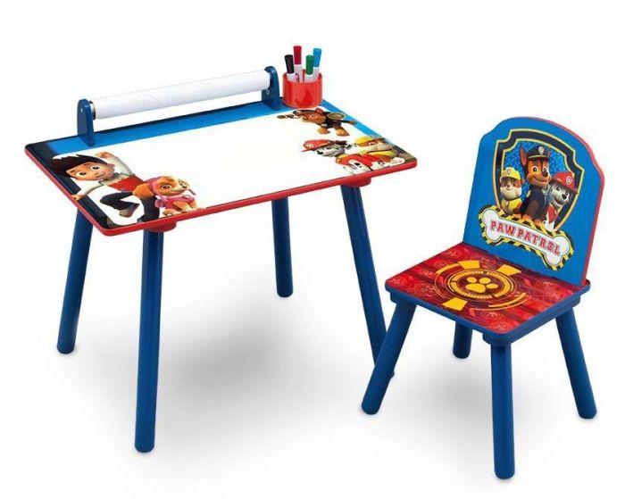 Set masuta pentru creatie si 1 scaunel Paw Patrol - Delta Children 0