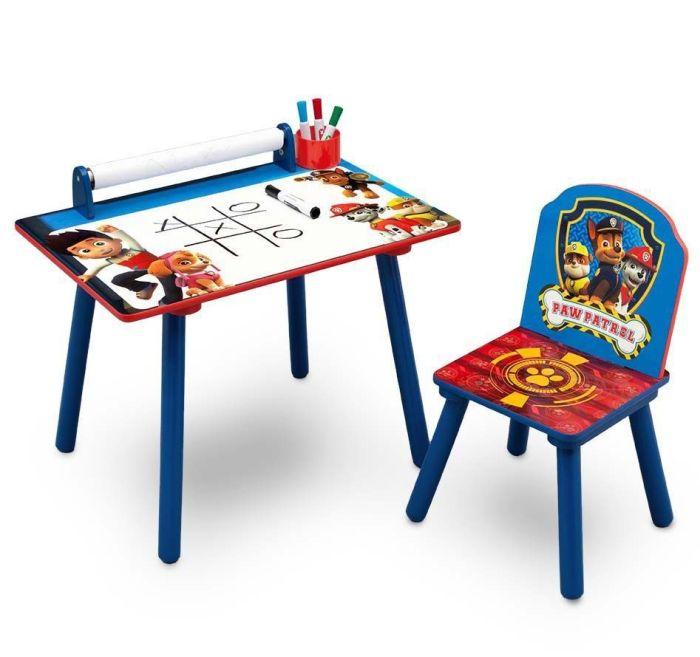 Set masuta pentru creatie si 1 scaunel Paw Patrol - Delta Children 1