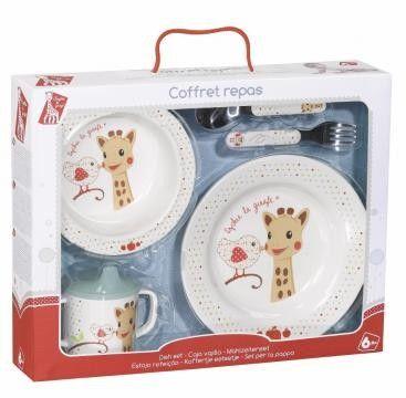 Set pentru masa melamina Girafa Sophie & Kiwi cutie cadou [0]