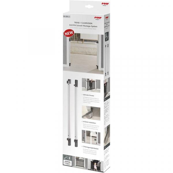 Sistem de instalare rapida EasyFix pentru porti de siguranta extensibile DesignLine, aluminiu, Reer 46051 [1]