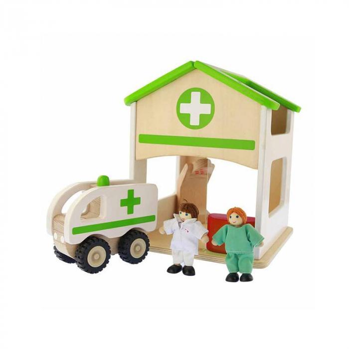 Spital de jucarie, din lemn, +3 ani, Masterkidz, pentru gradinite 0