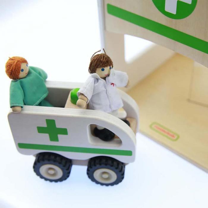 Spital de jucarie, din lemn, +3 ani, Masterkidz, pentru gradinite 1