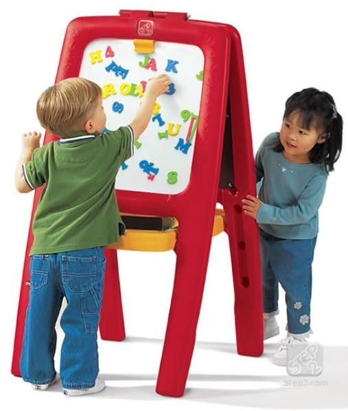 Tabla dubla pentru copii - Easel for Two - Culoare Rosu 0