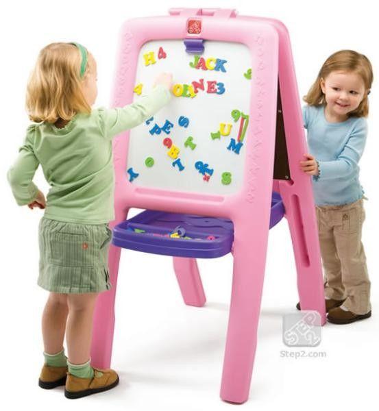 Tabla dubla pentru copii - Easel for Two - Culoare Roz 0