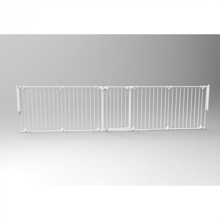 Tarc de siguranta modular cu 5 panouri, metal alb, Noma, N94047 6