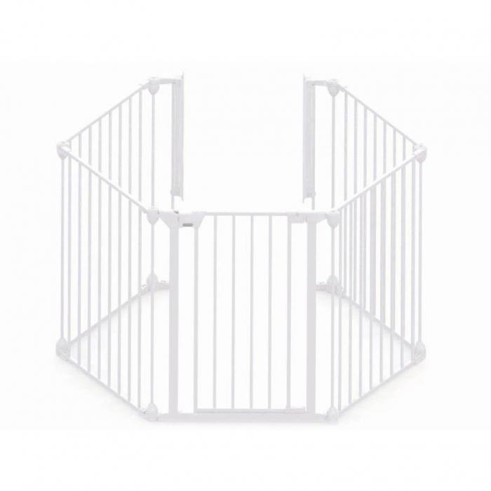 Tarc de siguranta modular cu 5 panouri, metal alb, Noma, N94047 0