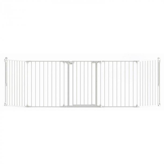 Tarc de siguranta modular cu 5 panouri, metal alb, Noma, N94047 7