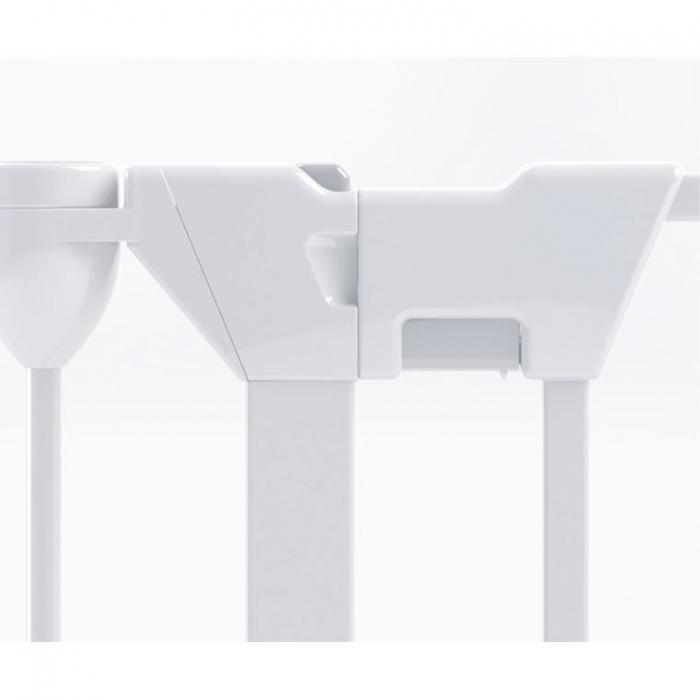 Tarc de siguranta modular cu 5 panouri, metal alb, Noma, N94047 8