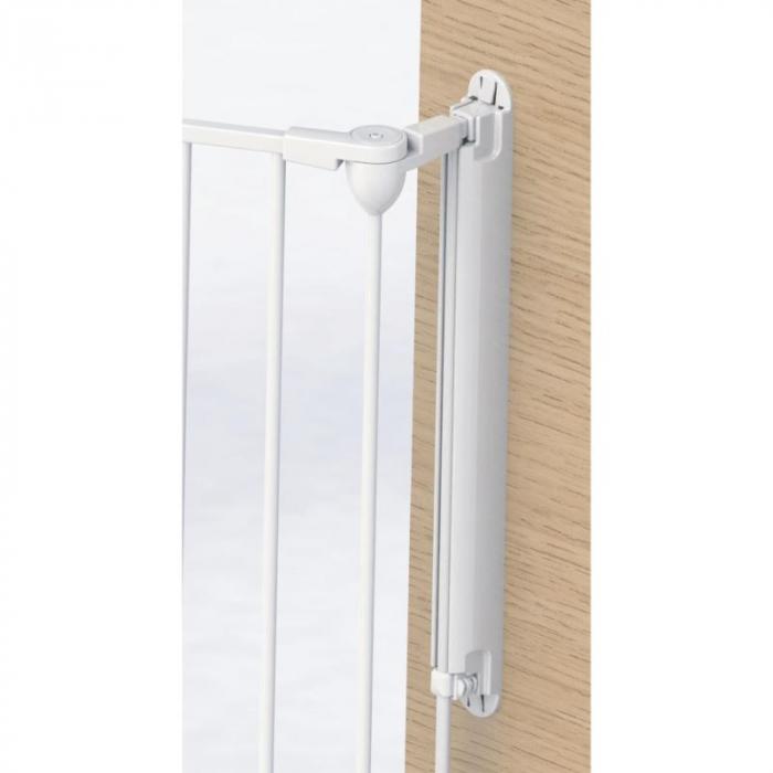 Tarc de siguranta modular cu 5 panouri, metal alb, Noma, N94047 11