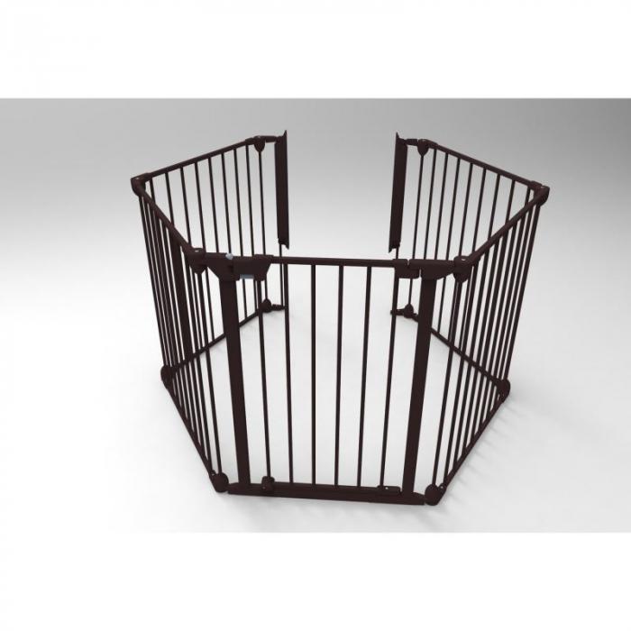 Tarc de siguranta modular cu 5 panouri, metal negru, Noma N94238 3