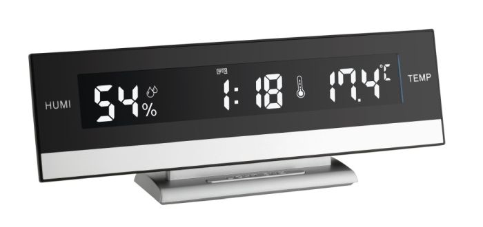 Termo-higrometru cu ceas si alarma iluminat TFA 60.2011 [0]