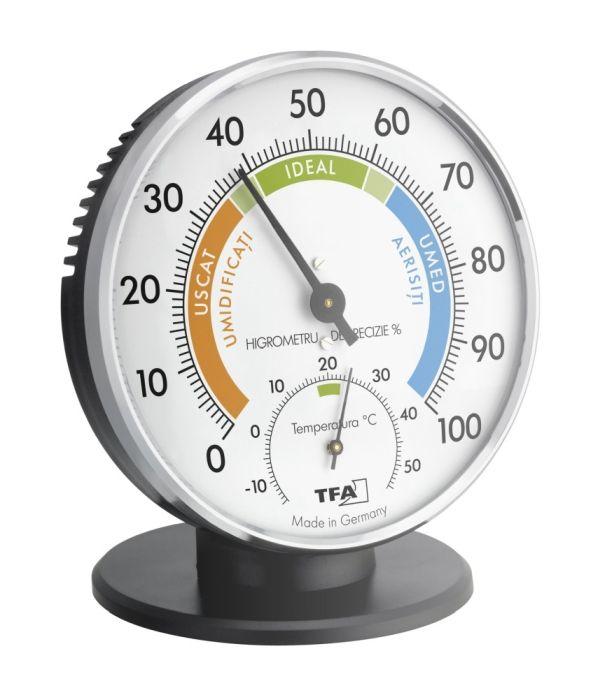 Termometru si Higrometru clasic de precizie TFA 45.2033 0
