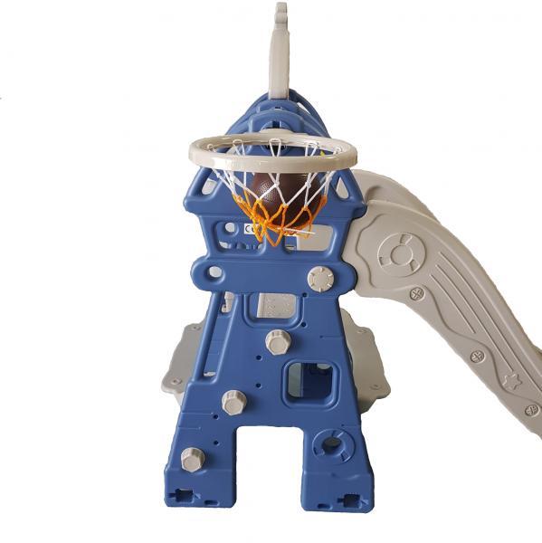 Tobogan MyKids Lighthouse cu cos de baschet Blue [2]