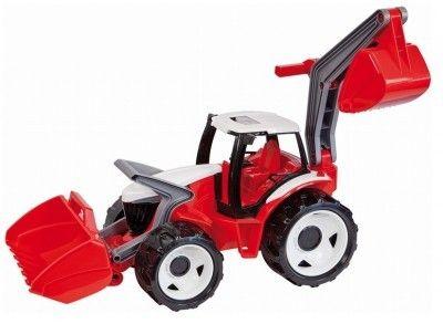 Tractor cu excavator si cupa Gigant plastic 102 cm - Lena 0
