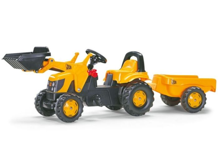 Tractor cu pedale si remorca Rolly Toys 023837 Galben 0