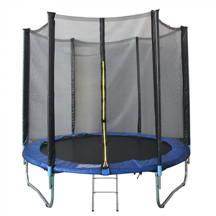 Trambulina KidsCare, cu scara si plasa de protectie, 305 cm 0