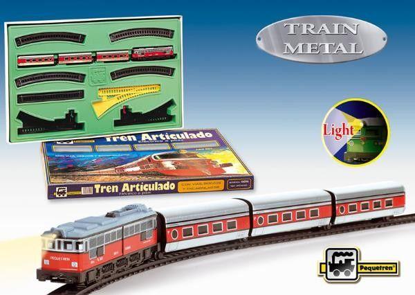 "Trenulet electric calatori ""Articulado"", cu macaz - Pequetren 0"