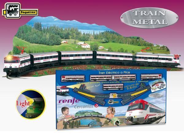 Trenulet electric calatori Cercanias RENFE cu peisaj - Pequetren 0