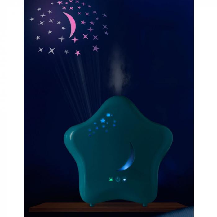 Umidificator de camera cu proiector si lumina de noapte Moony Lanaform 1