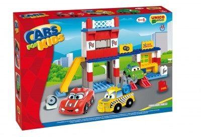 Unico Cars for Kidz garaj cu masini 108 piese 1