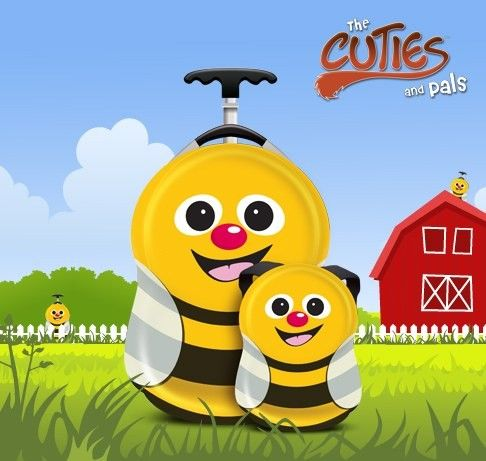 Valiza tip trolley si ghiozdan Cazbi the Bee - Cuties and Pals 0